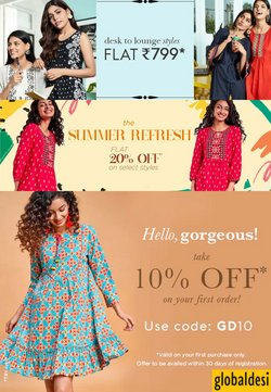 Clothes, shoes & accessories offers in the Global Desi catalogue ( 2 days left)