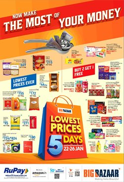 Supermarkets offers in the Big Bazaar catalogue in Delhi