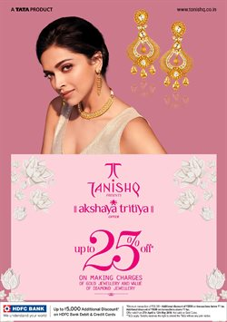 Jewellery offers in the Tanishq catalogue in Bangalore ( More than a month )