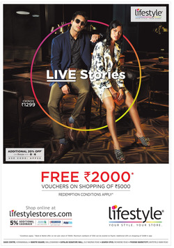 Offers from Lifestyle in the Dehradun leaflet