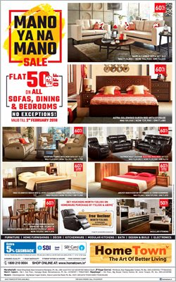Offers from HomeTown in the Bangalore leaflet