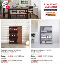 Home & Kitchen offers in the HomeTown catalogue ( Published today)