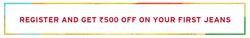 Offers from Levi's in the Agra leaflet