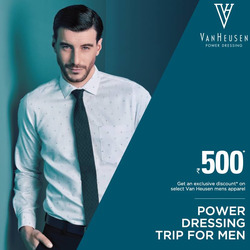 Offers from Van Heusen in the Delhi leaflet