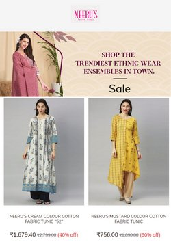 Neeru's offers in the Neeru's catalogue ( Expires today)