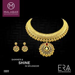 Necklace offers in the Malabar Gold and Diamonds catalogue in Delhi
