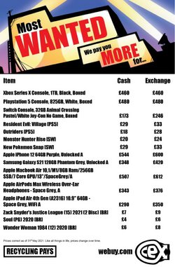 Mobiles & Electronics offers in the CEX catalogue ( Expires tomorrow)