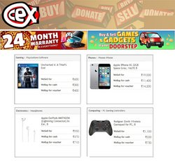 Mobiles & Electronics offers in the CEX catalogue ( 24 days left)
