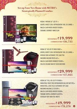 Led tv offers in the Metro catalogue in Ahmedabad