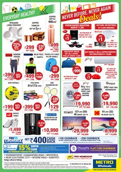 Sandals offers in the Metro catalogue in Bangalore