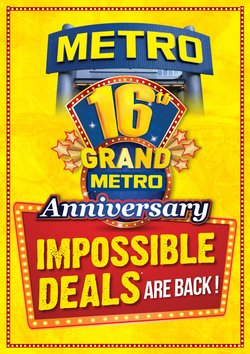 Offers from Metro in the Ramamurthy Nagar leaflet