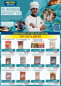 Offers from Metro in the Hyderabad leaflet