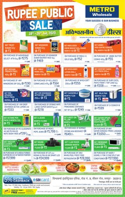 Offers from Metro in the Jaipur leaflet