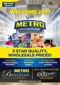 Supermarkets offers in the Metro catalogue in Delhi ( 11 days left )