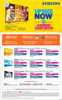 Mobiles & Electronics offers in the Samsung catalogue in Bhilai