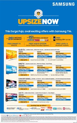 Led tv offers in the Samsung catalogue in Ahmedabad