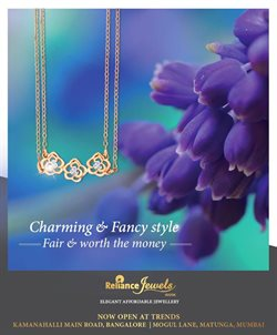 Offers from Reliance Jewels in the Bangalore leaflet