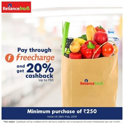Supermarkets offers in the Reliance Fresh catalogue in Delhi