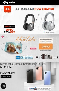 Mobiles & Electronics offers in the Vijay Sales catalogue ( 10 days left)