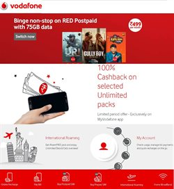 Offers from Vodafone in the Chennai leaflet