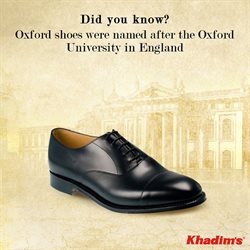 Shoes offers in the Khadims catalogue in Coimbatore
