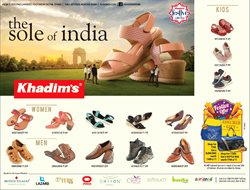 Sandals offers in the Khadims catalogue in Ahmedabad