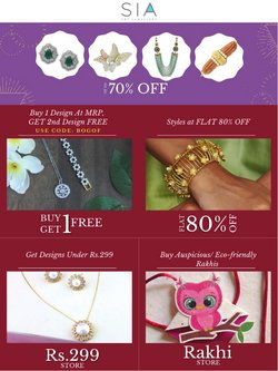 Sia Jewellery offers in the Sia Jewellery catalogue ( 11 days left)