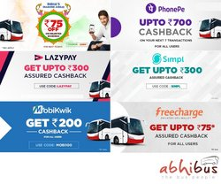 Travel offers in the Abhi Bus catalogue ( Expires tomorrow)