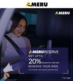 Travel offers in the Meru Cabs catalogue ( More than a month)