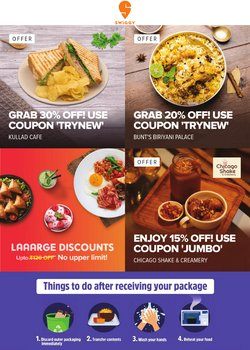 Restaurants offers in the Swiggy catalogue ( 2 days left)