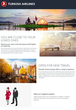 Offers of Flights in Turkish Airlines
