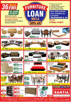 Offers from Bantia Furnitures in the Hyderabad leaflet