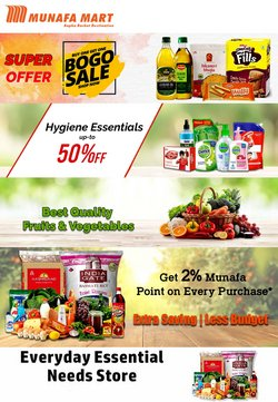 Supermarkets offers in the Munafa Mart catalogue ( Expires today)