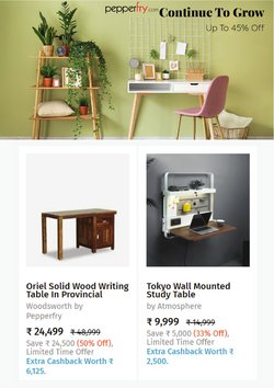 Pepperfry offers in the Pepperfry catalogue ( 5 days left)