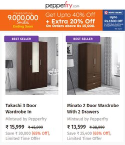Home & Kitchen offers in the Pepperfry catalogue ( Published today)