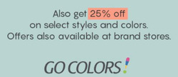 Go Colors coupon in Hyderabad ( Expires tomorrow )