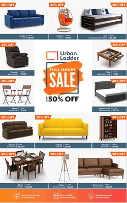 Sofa offers in the Urban Ladder catalogue in Delhi