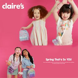 Claire's catalogue ( More than a month )