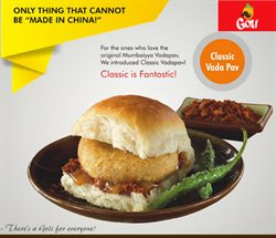 Offers from Goli Vada Pav in the Delhi leaflet