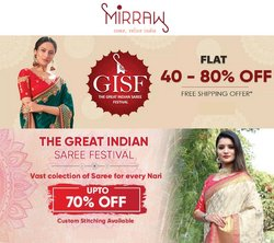 Mirraw offers in the Mirraw catalogue ( 7 days left)