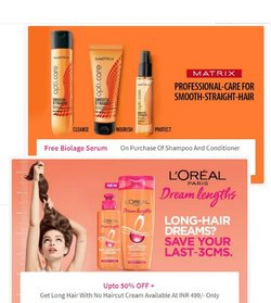 Offers of Shampoo in Nykaa