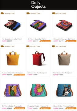 Offers of Bags in Daily Objects