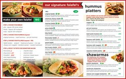 Restaurants offers in the Falafels catalogue ( 11 days left)