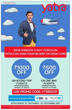 Offers from Yatra in the Delhi leaflet