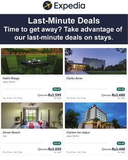 Travel offers in the Expedia catalogue ( 3 days left)