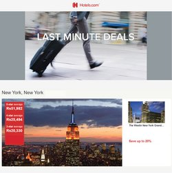 Hotels offers in the Hotels catalogue ( More than a month)