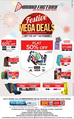 Offers from Brand Factory in the Hyderabad leaflet