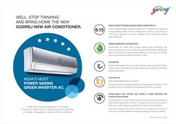 Air conditioner offers in the Godrej catalogue in Ahmedabad