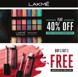 Perfume & Beauty offers in the Lakme catalogue ( Published today)