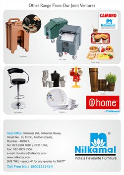 Furniture offers in the Nilkamal catalogue in Agra